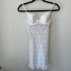 VS The Lacie White Fitted Lace Dress Lingerie M